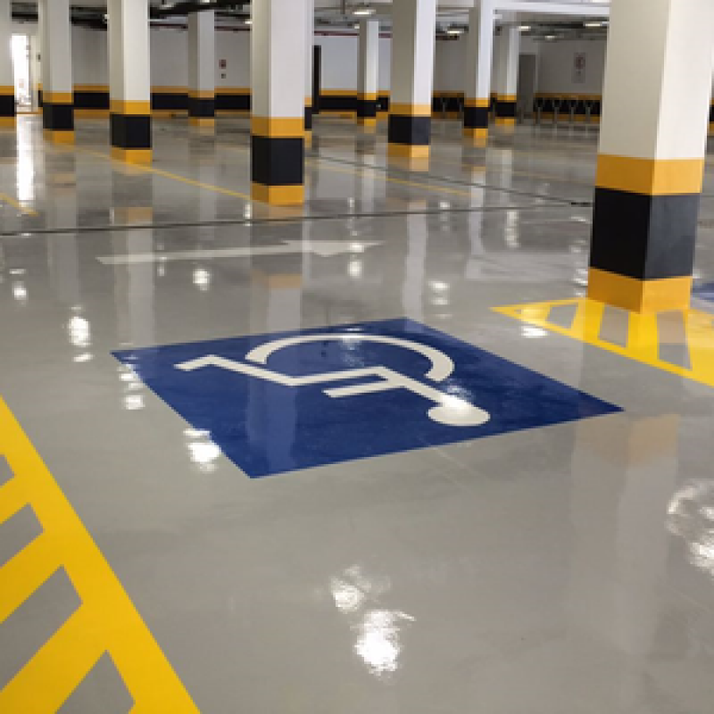 pinturas epóxi para estacionamentos Brasília