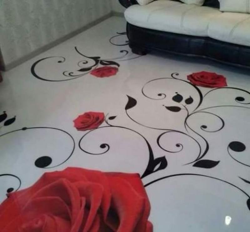 piso decorativo autonivelante Jaguariúna